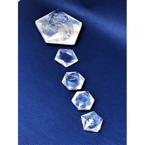 Hexagones pierres Cristal de roche