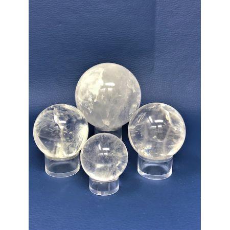 Boules de cristal de roche