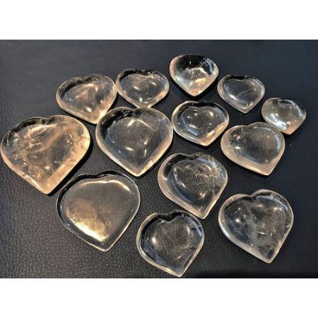 Cœurs pierres Cristal de roche