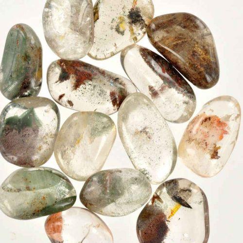 Poids du lot de quartz lodolite : 100 gr. 13 pierres env