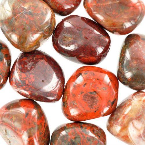 Poids du lot de jaspe breschia : 250 gr. 11 pierres env