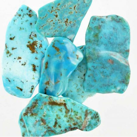 Poids du lot de turquoise: 50 gr. 5 pierres env