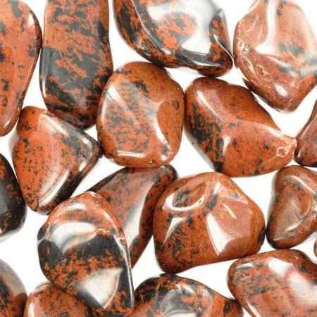 Poids du lot d'obsidienne mahagonit: 250 gr. 22 pierres env