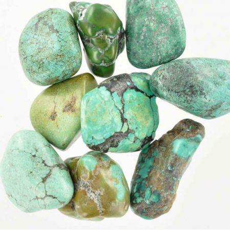 Poids du lot de turquoise : 100 gr. 9 pierres
