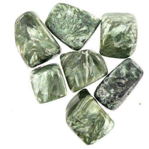 Poids du lot de séraphinite : 100 gr. 7 pierres env.