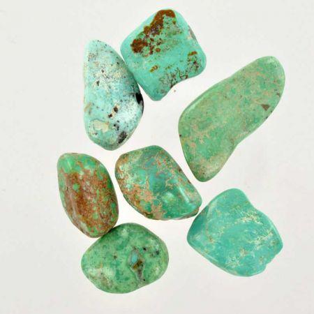 Poids du lot de turquoise d'Arizona : 25 gr. 7 pierres