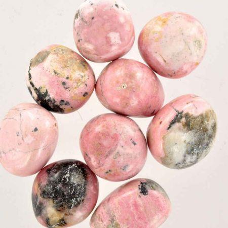 Poids du lot de rhodochrosite : 250 gr. 9 pierres env.