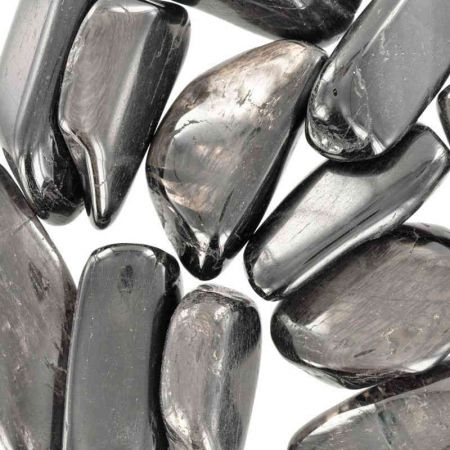 Poids du lot d'hypersthène : 200 gr. 12 pierres env.