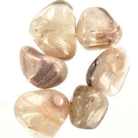 Poids du lot de quartz fantôme: 100 gr. 6 pierres env.