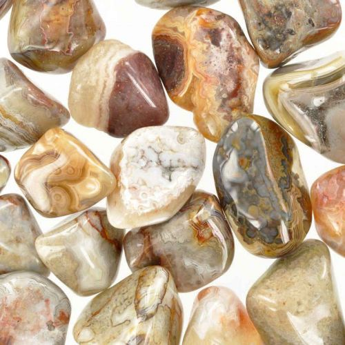 Poids du lot d'agate crazy-lace: 250 gr. 27 pierres