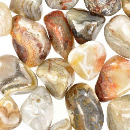 Poids du lot d'agate crazy-lace: 250 gr. 27 pierres