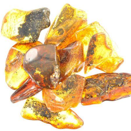 Poids du lot d'ambre : 25 gr. 10 pierres env.