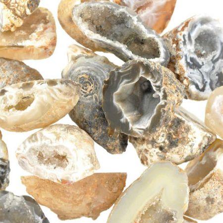 Poids du lot de d'agate géode: 200 gr. 22 pierres env.