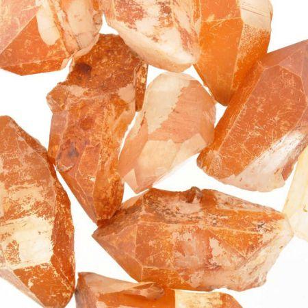 Poids du lot de Quartz hématoïde : 250 gr.10 pierres env.