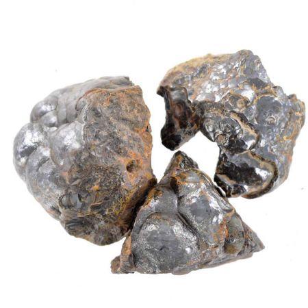 Poids du lot d'hématite brute : 150 gr. 3 pierres env.