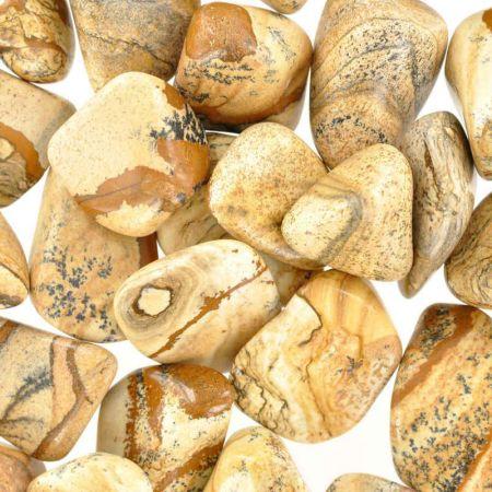 Poids du lot de Jaspe paysage : 250 gr.  28 pierres env.