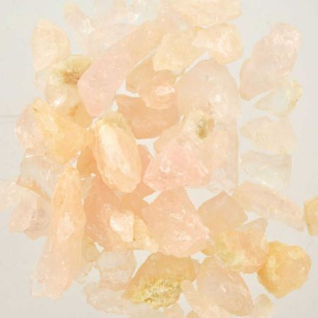 Poids du lot de morganite brute : 100 gr.
