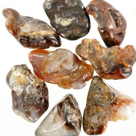 Poids du lot d'agate de feu : 100 gr. 8 pierres env.