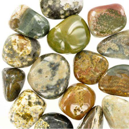 Poids du lot de jaspe orbiculaire: 150 gr. 15 pierres env.