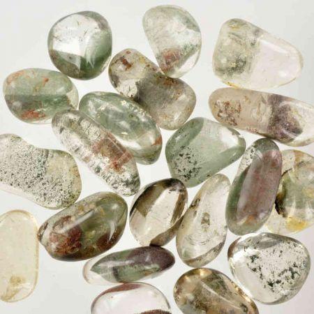 Poids du lot de quartz lodolite : 100 gr. 20 pierres env