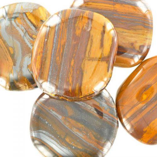 Poids du lot d'œil de fer : 200 gr. 5 pierres env. Dimension : 40 x 40  mm env.