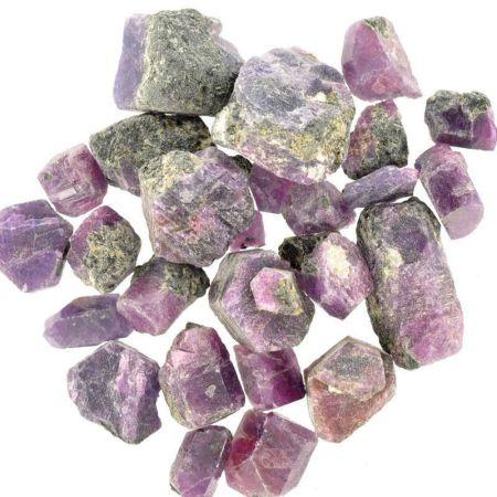 Poids du lot de rubis saphir : 100 gr. 26 pierres env.
