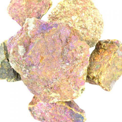 Poids du lot de chalcopyrite : 250 gr. 6 pierres env.