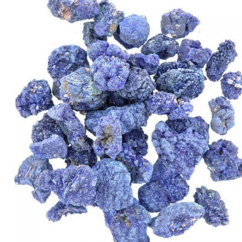 Poids du lot d'azurite brute : 80 gr.  30 pierres env.
