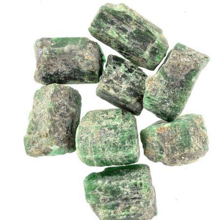 Poids du lot d'émeraude : 100 gr. 8 pierres env.