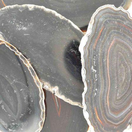 Poids du lot d'agate tranche : 114 gr. 5 pierres env.