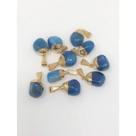 Pendentifs Agate Bleue