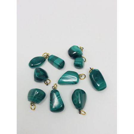 Pendentifs pierres Malachite