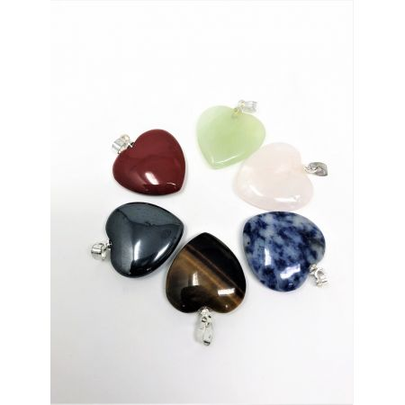 Pendentifs Cœur Divers pierres