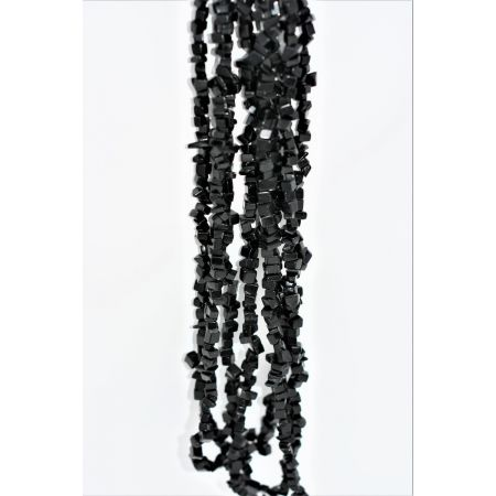 Colliers sautoirs baroques Onyx noire